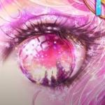 微信头像只有一只眼睛 高清彩色的一只眼睛头像动漫图片