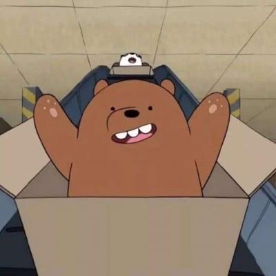 高清可爱白棕熊情头图片
