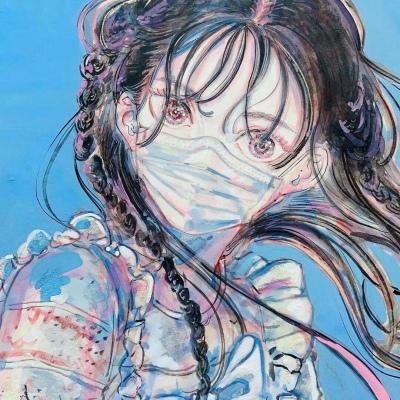 油画头像女生唯美图片