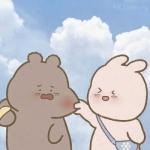 高清可爱呆萌卡通情侣头像一左一右图片