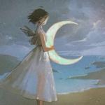 一男一女天使漫画意境情头图片
