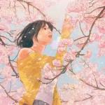 樱花动漫情侣头像 高清一男一女的情侣头像动漫唯美樱花图片