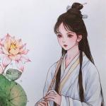 动漫古风少女汉服图片头像 高清手绘的古风女头二次元图片