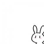 可爱小兔子卡通图片头像,高清超萌的简单可爱小兔子头像