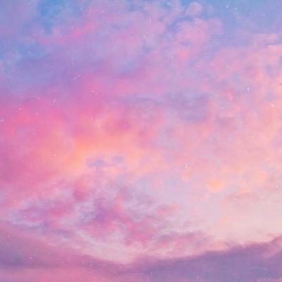 粉色天空唯美图片头像