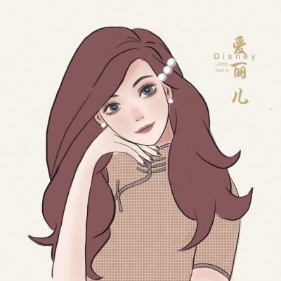 民国穿旗袍迪士尼公主头像图片