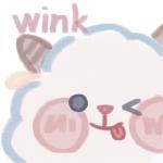 高清可爱wink表情头像图片,眨一只眼递眼色