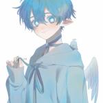 蓝头发帅气男动漫头像,高清可爱的男生头像冰蓝系帅气图片