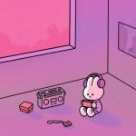 超萌兔兔图片头像,高清可爱的萌版小兔子动漫图片头像