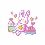 兔子女生头像萌图片,高清少女心满满的超萌卡通兔子头像