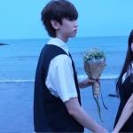 在海边的情侣头像,高清清新的海边唯美意境情侣头像图片