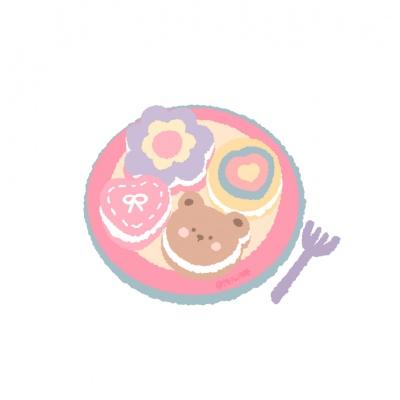 微信可爱卡通少女心背景图片头像