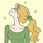 清新绿色系动漫头像女,高清清新绿色的动漫头像女生图片