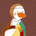 手绘鸭子头像,高清可爱的网红鸭子可爱卡通图片头像