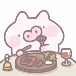 可爱卡通小猪头像,超萌猪猪吃东西的可爱头像图片