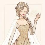 迪士尼公主婚纱头像无水印图片