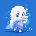 可爱手绘公主头像,高清Q版可爱的手绘公主女头图片