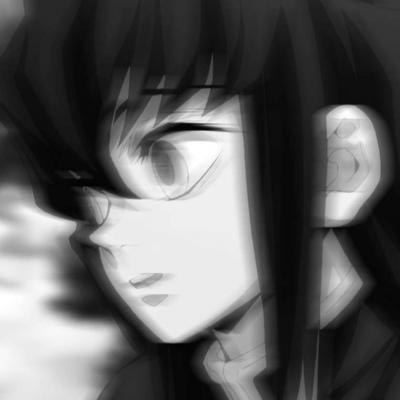 黑白风二次元丧系头像图片