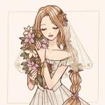 迪士尼公主婚纱系列头像 高清清新的迪士尼公主穿婚纱头像图片