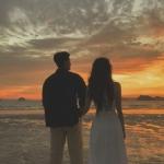 真人浪漫唯美情头 高清一对两张的甜蜜情侣图片唯美浪漫头像