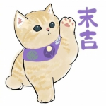 插画大吉大利猫咪头像图片 高清可爱大吉大利系列猫咪动漫头像