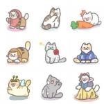 猫咪头像高清可爱 卡通可爱小猫咪的头像图片 团头闺蜜头