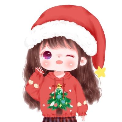 圣诞头像女可爱动漫