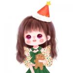 圣诞头像女可爱动漫 高清超萌的圣诞卡通头像女手绘图片
