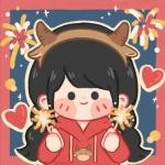 新年喜庆情侣头像图片 一男一女红红火火过年情侣头像