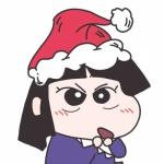可爱蜡笔小新圣诞节团头像图片