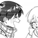情头黑白动漫 高清一左一右的黑白情侣头像动漫图片