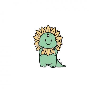 小恐龙奥特曼情侣头像