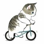 最近很火的猫咪手绘头像 高清超萌可爱插画手绘猫头像图片