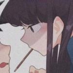 意境情侣头像一左一右卡通高清图片