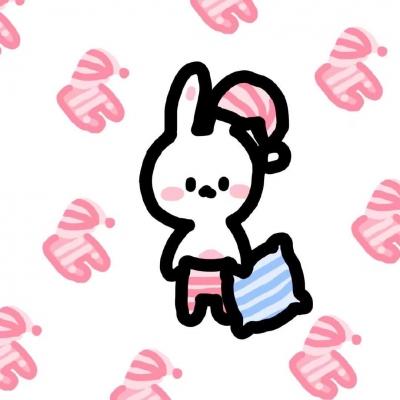 可爱小兔子呆萌Q版头像