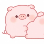 可爱猪情侣头像两张 高清好看的猪猪情侣头像呆萌卡通图片