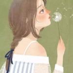 温暖知性女性卡通头像 高清好看的手绘文艺范儿卡通微信头像女生