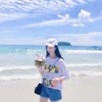 海边情侣真人头像两张照片 沙滩是情侣度假的圣地