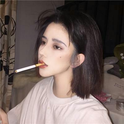 超拽高清女生抽烟头像