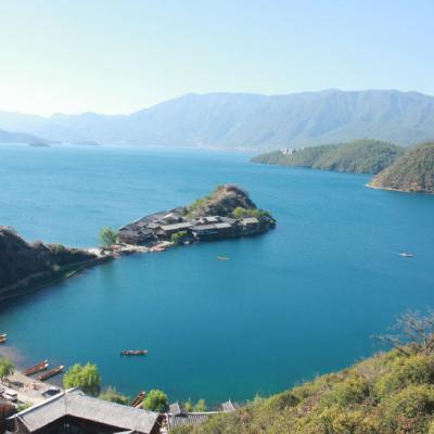 泸沽湖风景图片头像