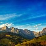 蓝天白云美丽山水风景 山水风景优美图片