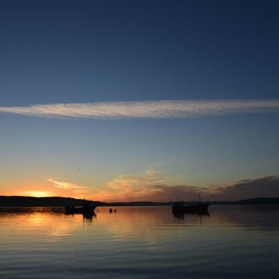 唯美海边朝霞美景图片头像