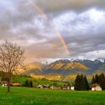 唯美微信彩虹风景头像图片 阳光吉祥带有运气的微信头像彩虹山水