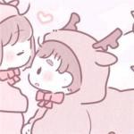 粉色系动漫男生女生情头 超级卡哇伊的情侣头像