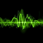 绿色音波头像图片