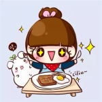 超萌吃货干饭小女生卡通头像图片