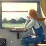 望向火车窗外头像图片 遇见爱最美的期待