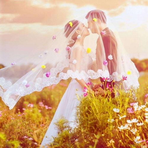 浪漫婚纱情侣头像图片