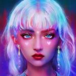 超酷梦幻色彩女生头像图片