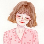红唇甜美短发女生漫画头像图片